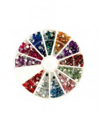 Rueda piedras cristal de colores