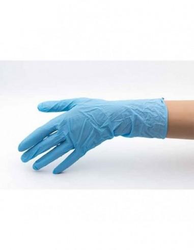 Guantes de nitrilo azul talla M (100...