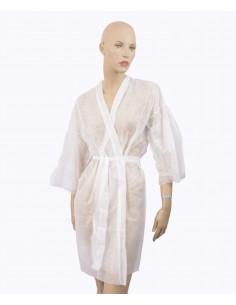 Kimono blanco desechable...